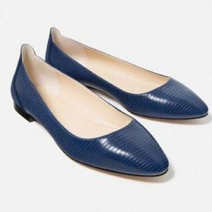 Zara navy blue ballet flats